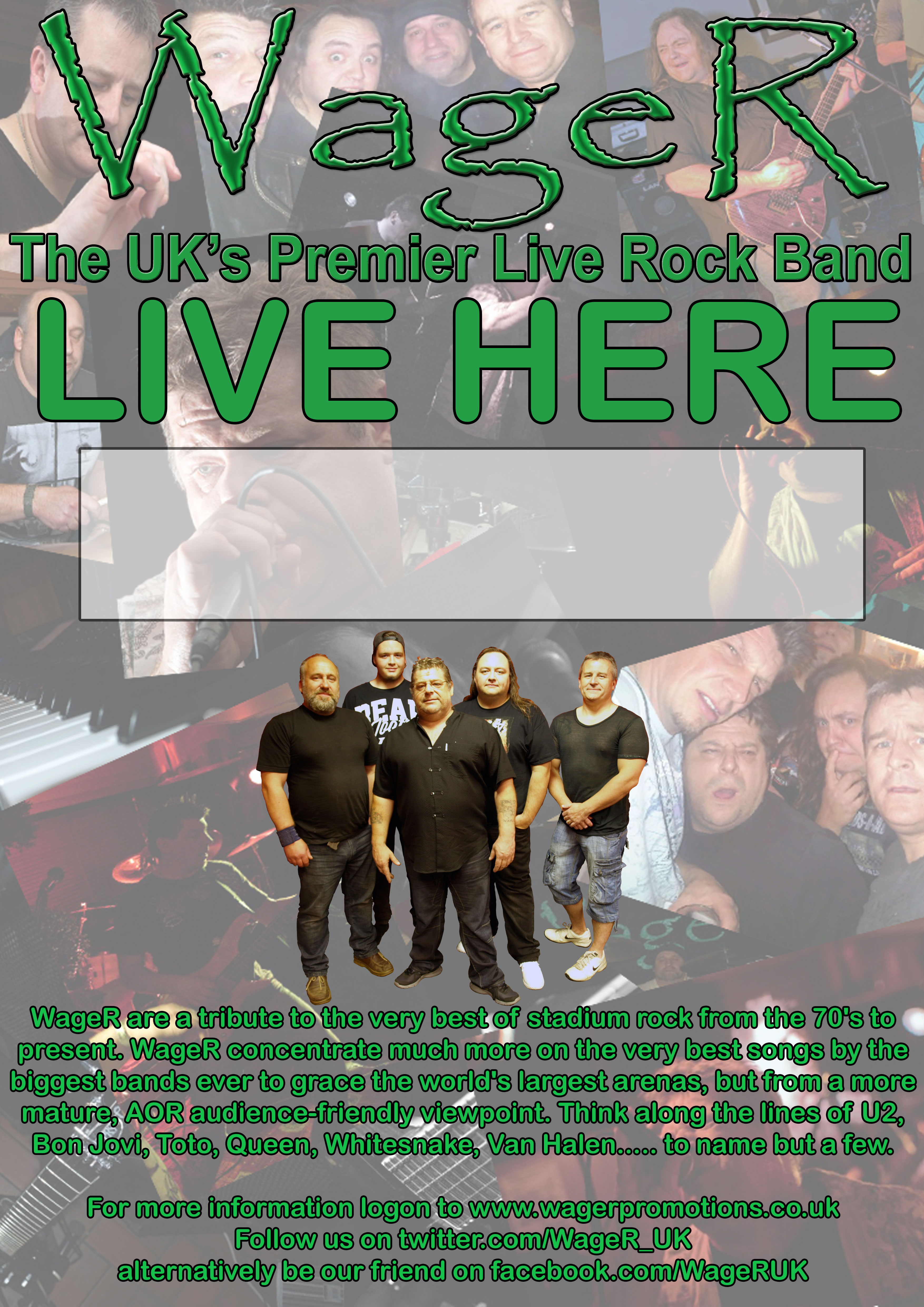 WageR - The UK's Premier Live Rock Band